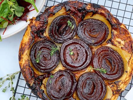 Sticky Onion & Thyme Tarte Tartin