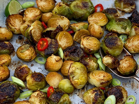 Miso Roasted Brussel Sprouts