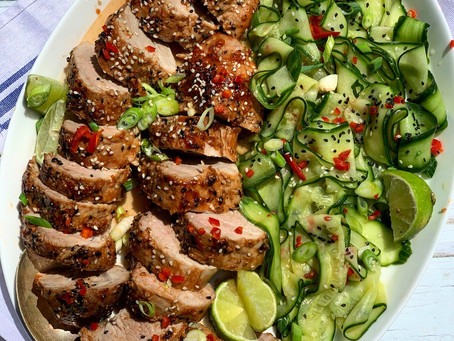 Korean Pork Tenderloin, with Pickled Cucumber ⠀⠀⠀⠀⠀⠀⠀⠀⠀