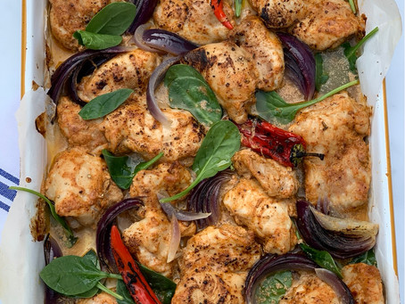 Chicken Shashlik Traybake
