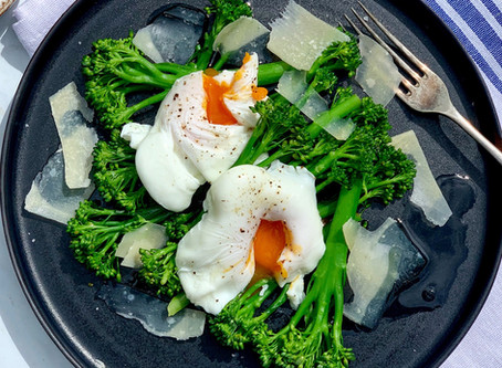 Tenderstem® with Poached Egg Parmesan & Truffle Oil