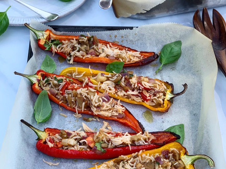 Stuffed Peppers & Aubergine