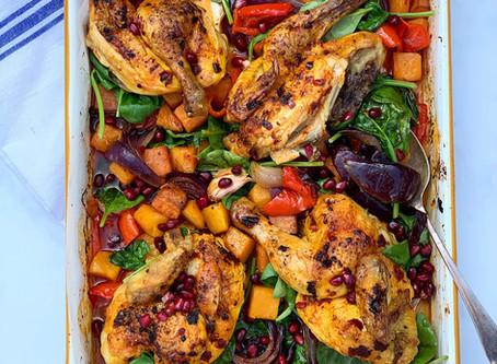 Harissa Poussin & Roasted Vegetable Traybake