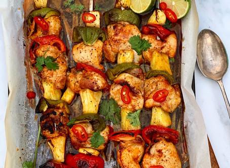 Spicy Chicken & Pineapple Kebabs  ⠀⠀⠀⠀⠀⠀⠀⠀⠀