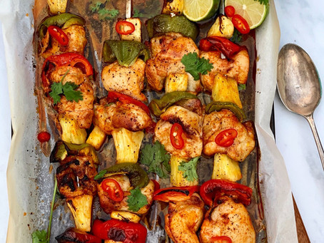 Spicy Chicken & Pineapple Kebabs  ⠀⠀⠀⠀⠀⠀⠀⠀⠀