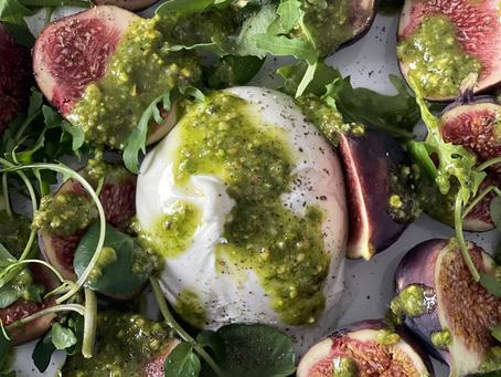 Figs, Burrata & Pistachio Pesto