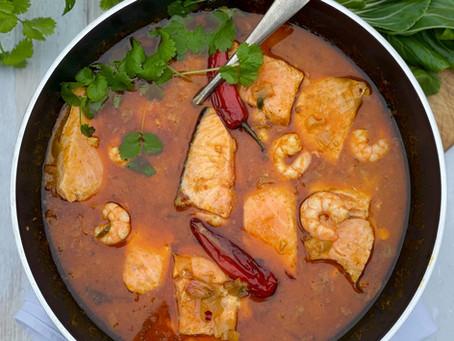 Thai Salmon & Prawn Red Curry