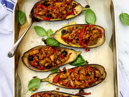 Spanish Stuffed Aubergine