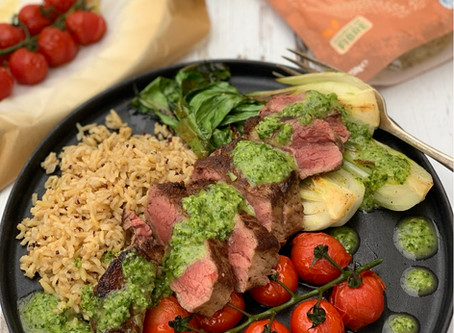 Asian Spiced Steak with Tilda Wholegrain Basmati & Quinoa Rice
