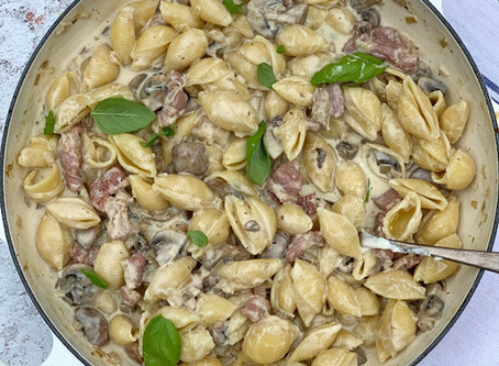 Creamy Bacon & Mushroom Pasta