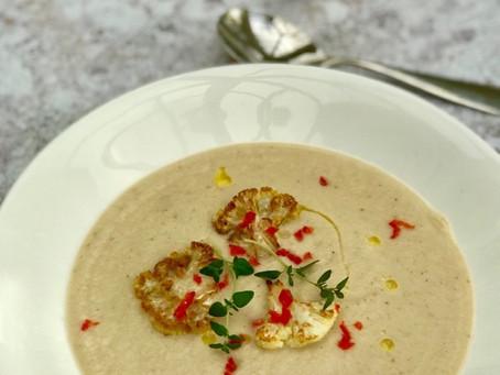 Vegan Roasted Creamy Cauliflower Soup