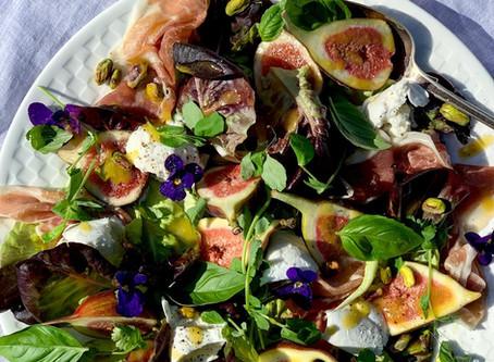 Fig, Parma Ham, Buffalo Mozzarella & Pistachio Salad