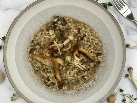 Vegan Wild Mushroom & Miso Risotto