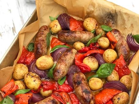Sausage Traybake