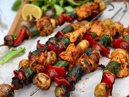 Chicken Chorizo & Potato Kebabs