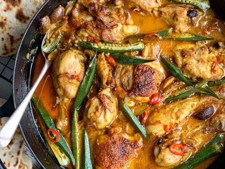 Chicken Mushroom & Okra Curry