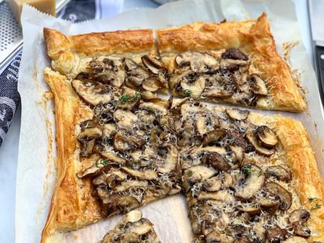 Mushroom & Parmesan Tart