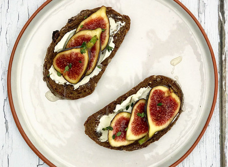 Fresh Figs, Cream Cheese, Honey & Thyme on Toast