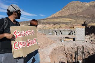 Protesta por el Cerro Grande. Chihuahua, Chih., 13 de junio de 2020.