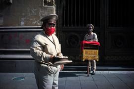 Organilleros. Ciudad de México, 28 de junio de 2020.
