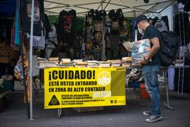Tianguis cultural del Chopo. Ciudad de México, 11 de julio de 2020.