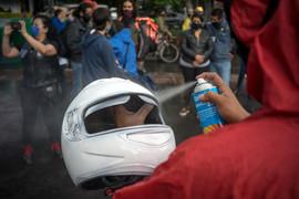 Protesta de repartidores. Ciudad de México, 1 de julio de 2020.