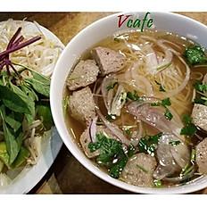 P2. Beef Meatball Noodle Soup - Phở Bò Viên