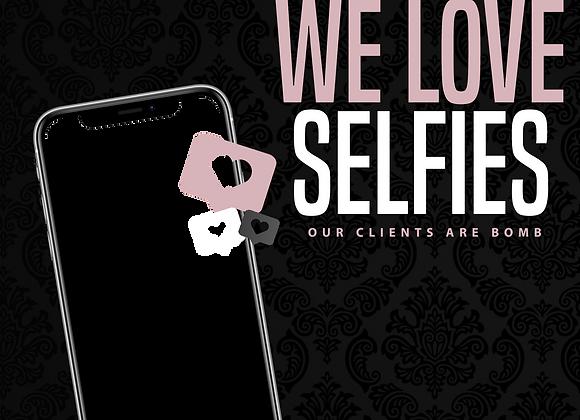 We Love Selfies Pink PNG