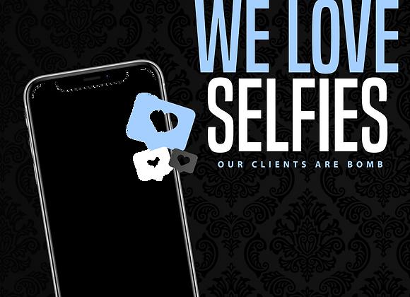 We Love Selfies Blue PNG
