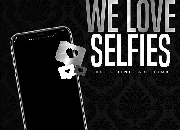We Love Selfies Silver PNG