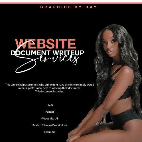 Website Document Writeup Services