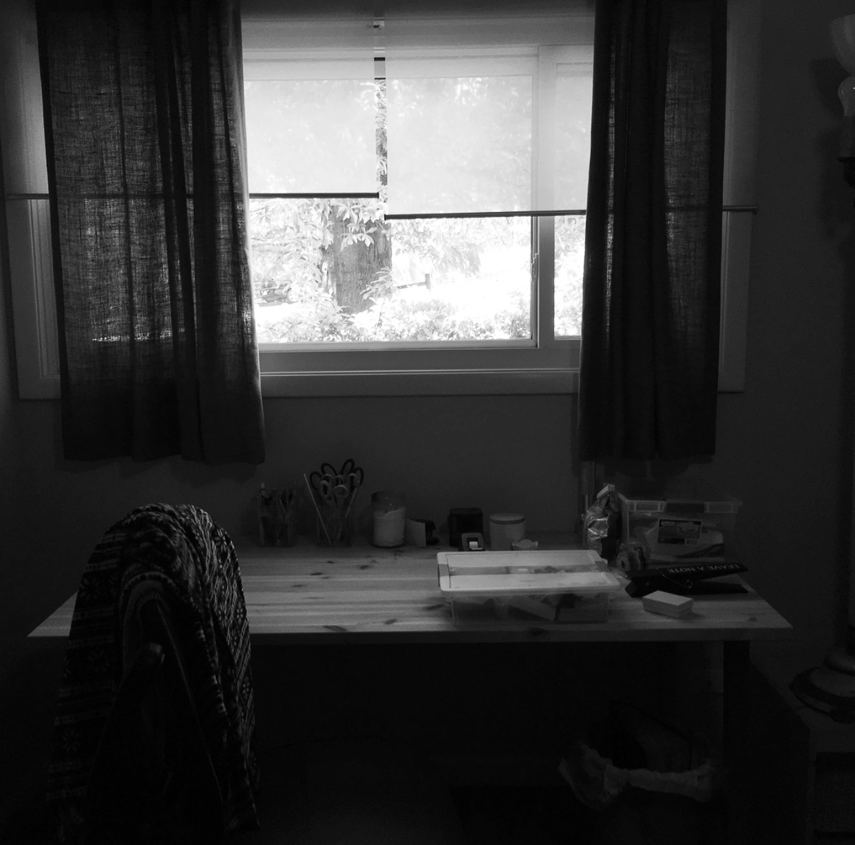 upstairs bedroom2 window bw
