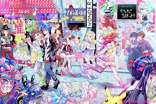 Harajuku: 11x17in Manga Print