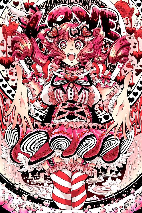Love: 11x17in High Quality Manga Print