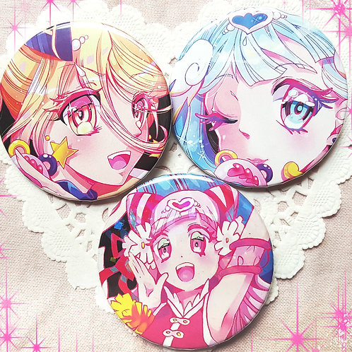 Hugtto Precure Large Holographic Pins