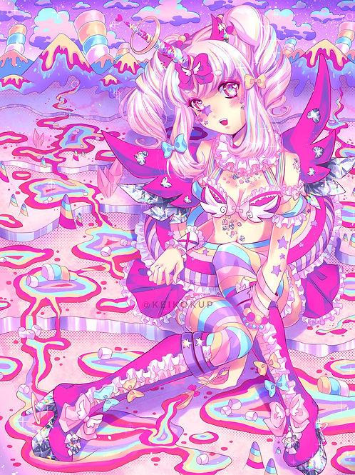 Unicorn River: 11x15in High Quality Manga Print