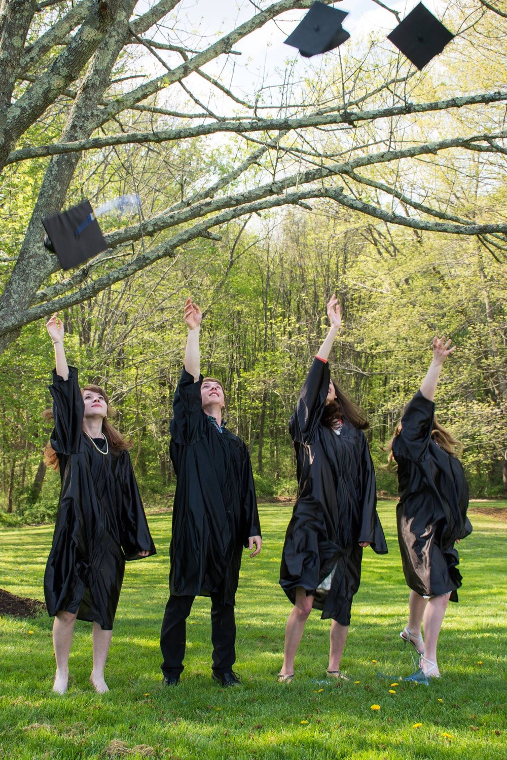 homeschool co-op fun graduation picture
