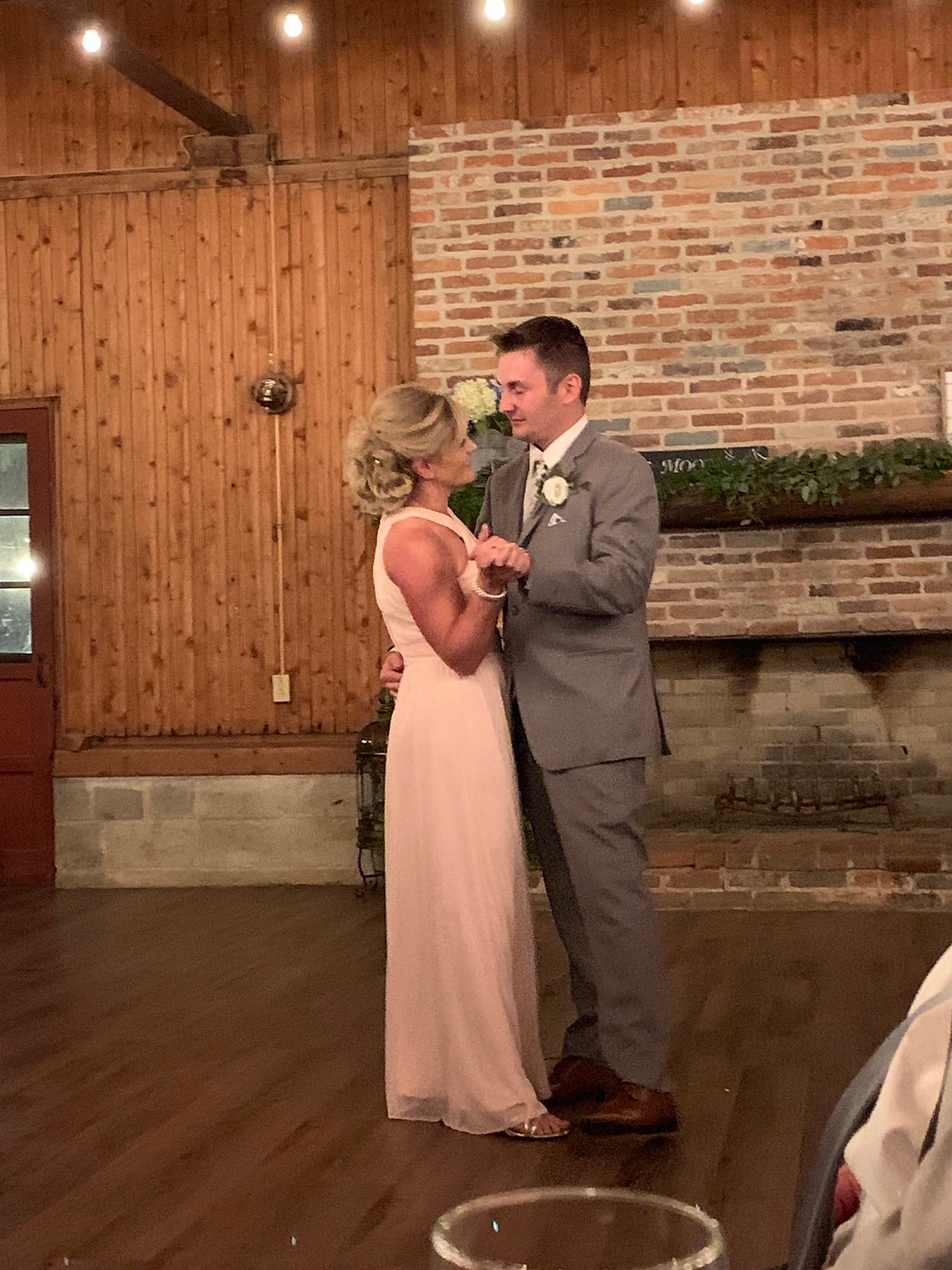 Mother and son first dance at a wedding