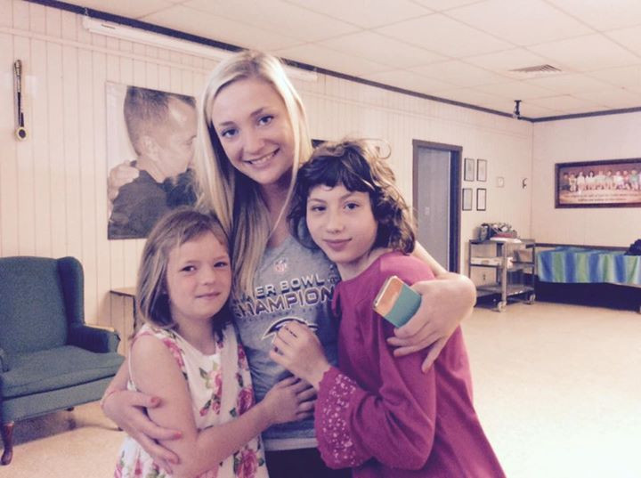 Kyrsten with Anna and her friend at Bridges of Faith before the adoption