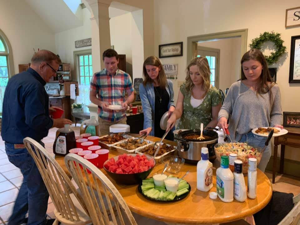 Buffet style dinners are how we feed our large family