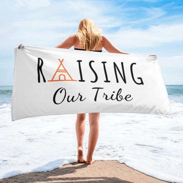 Raising Our Tribe Beach Towel