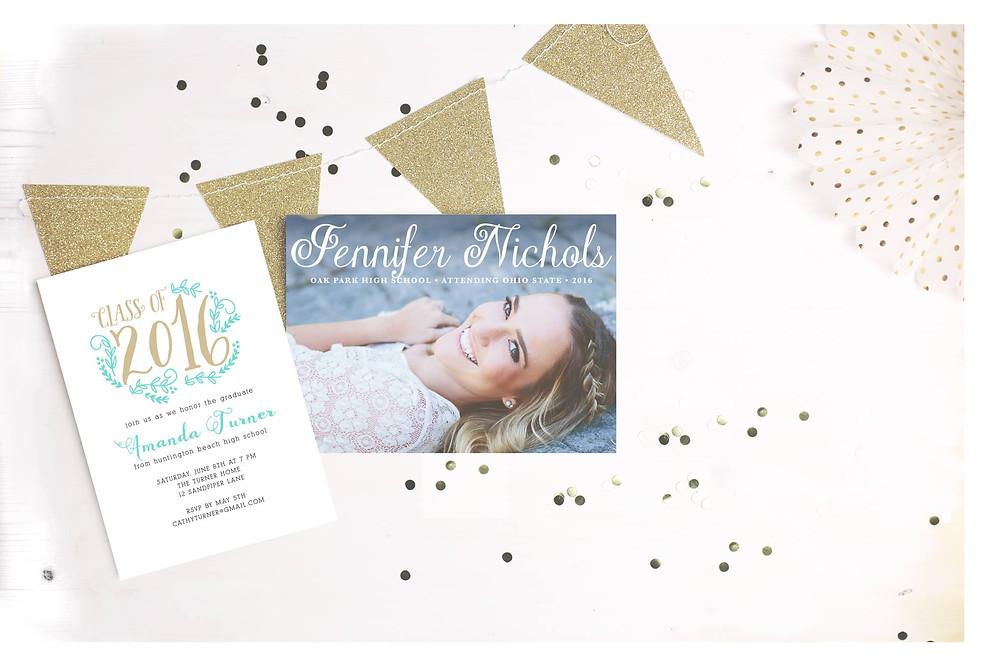 custom graduation party invitations from Basic Invite
