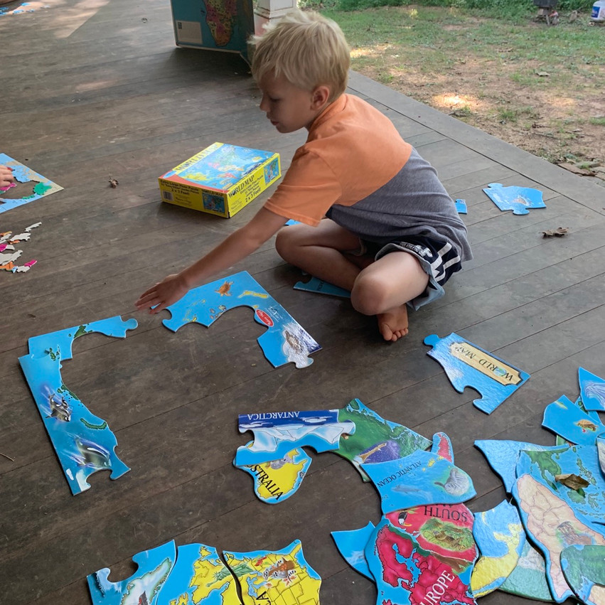 Making puzzles of Africa for homeschool curriculum