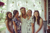 Beautiful bridal shower with flower crown and flowers