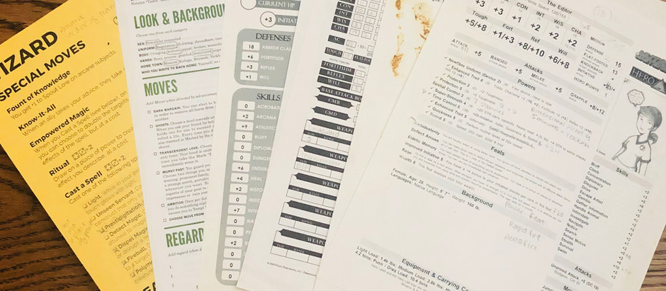 Designing Better Character Sheets - Part 3: Making Good Visual Design Choices