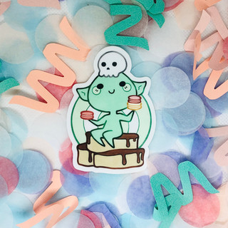 Macaron Goblin Sticker