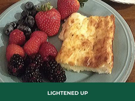 Lightened Up Cheesy Egg Casserole