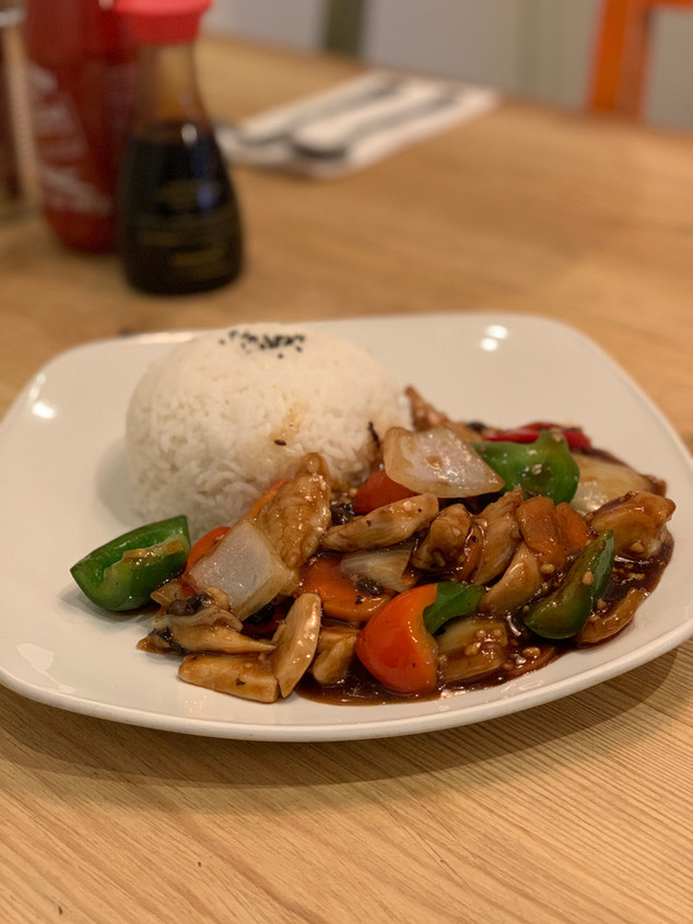 Chicken in Blackbean Sauce