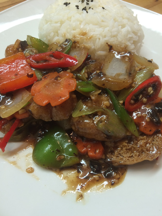 Blackbean Sauce with Tofu
