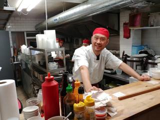 Chefs working in Open Kitchen
